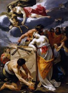Painting: The Sacrifice of Iphigenia, by Francois Perrier, 17th century. Public Domain.