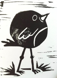 Round Robin (linoprint)