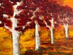 """Autumn Woods (oil on canvas; 18x24"""")"""