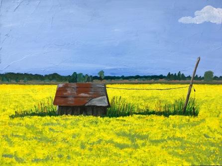 """Bruce Peninsula (acrylic on cradled panel; 12x16"""")"""