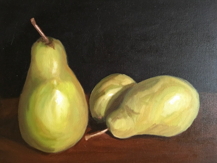 "Pears (oil on canvas; 11x14"")"