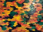"""Lily Pond in Autumn (study) (oil on panel; 8x10"""")"""