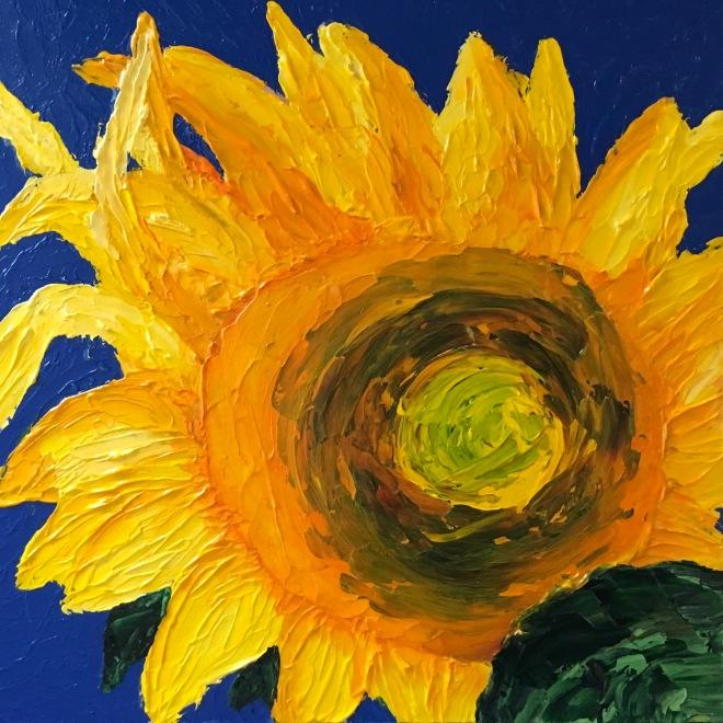 """Sunny Days (acrylic on panel; 12x12"""")"""