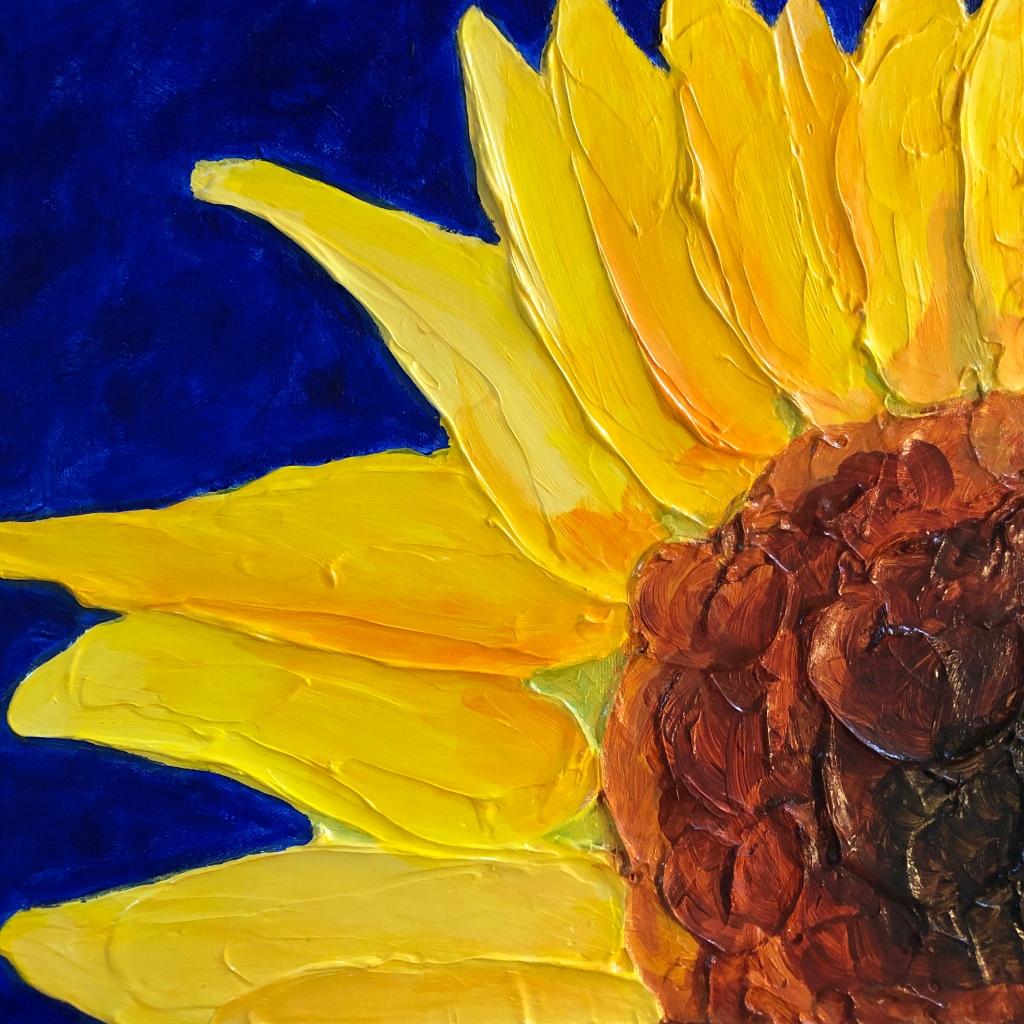 "Exuberance acrylic on canvas, 12 x 12"" SOLD"