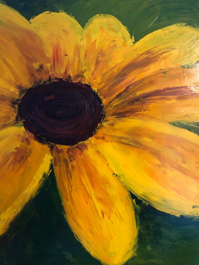 """Summer daisy (oil on canvas; 24 x 18"""")"""