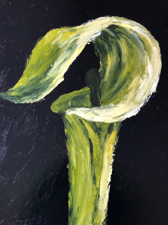 """Jack-in-the-Pulpit (acrylic on canvas; 24x18"""")"""